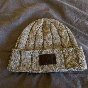 Stussy gray knit beanie